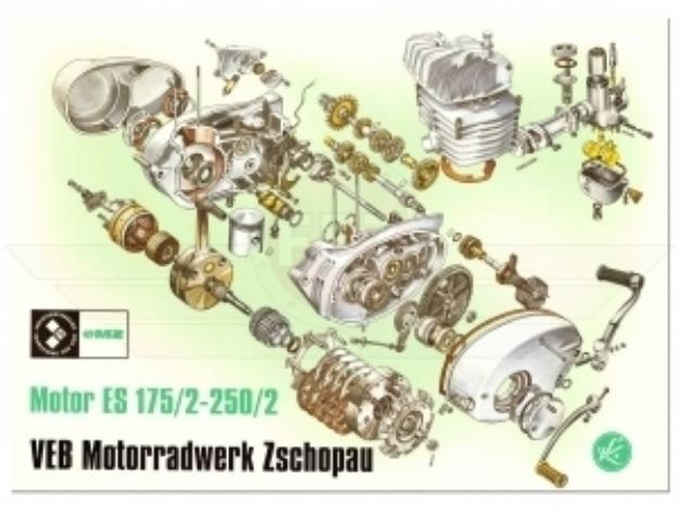 Bild von Explosionszeichnung Motor ES175/2  ES250/2