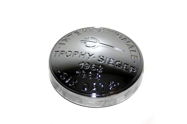 """Bild von Tankdeckel E60 Messing chrom """"Trophy 1963/64"""" MZ"""