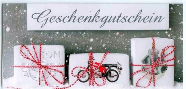 Bild von Geschenk-GUTSCHEIN SIMSON-Motiv S51 Weihnachten