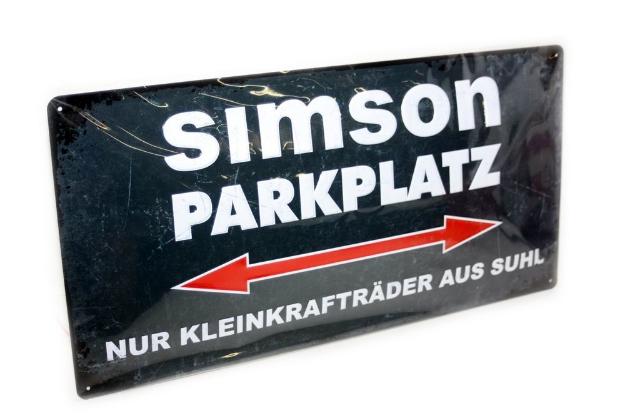 Bild von Blechschild SIMSON Parkplatz