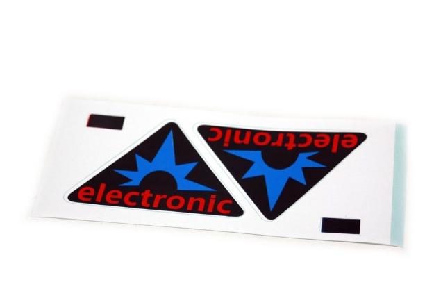 """Bild von Klebefolie Seitendeckel """" elektronik""""  Simson S50 S51"""