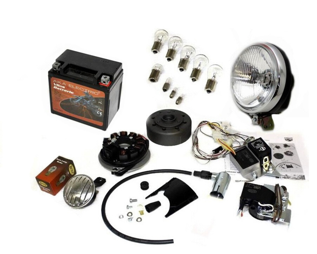 Bild von VAPE Zündung S51 S50 S70 - vergossene Magnete, mit Batterie, Hupe und Kugellampen
