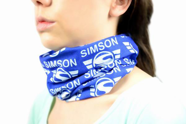 Bild von Schlauchtuch Halstuch weiß/blau Simson